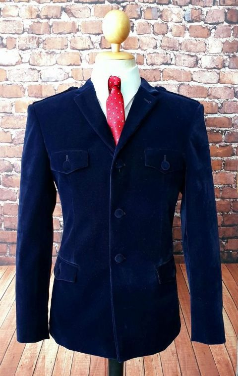 """Marriott"" Rich Blue Velvet Jacket"